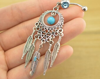 belly button rings dream catcher belly button jewelry friendship navel ring