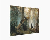 Canvas Print - Art Painting Stretched & Ready to Hang - Ivan Shishkin Morning At the Pine Forest