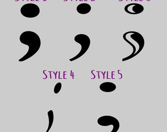 Semicolon Decal Sticker