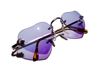 Personalized sunglasses, Heart shaped with removable custom charm