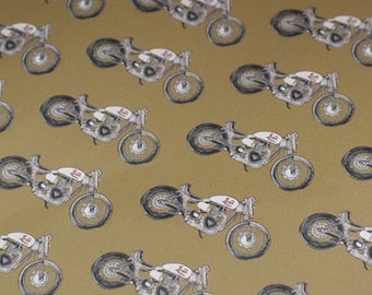 "Sale Price & Free Shipping!! Motorcycle Gift Wrap, Triumph, Satin Finish Premium Gift Wrap : 24 x 26""  (60 x 66cm)"