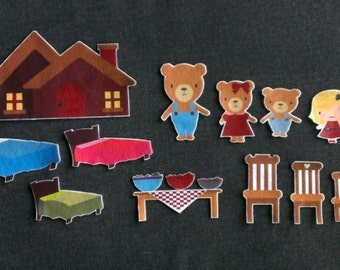 Goldilocks And The Three Bears Felt Board Story #1 // Flannel Board // Imagination // Children // Classic Story //