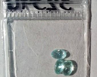 Light Blue Tourmaline  Loose cut stones, 3