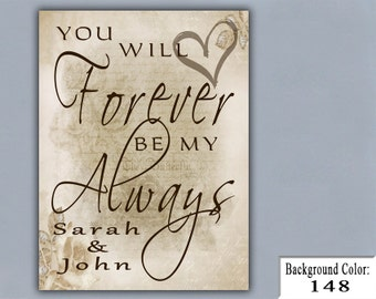 FOREVER, Handmade Sign, Wooden Sign, Wood Sign, Home Decor, Weddings, Personalized Sign, Weding Signs, Wedding Favors, Wedding Gift