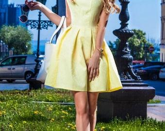 Lemon dress, summer dress, prom dress, bridesmaids dresses, sundress, party dress, casual, 1950s dress, 50s dress, vintage dress, tea party