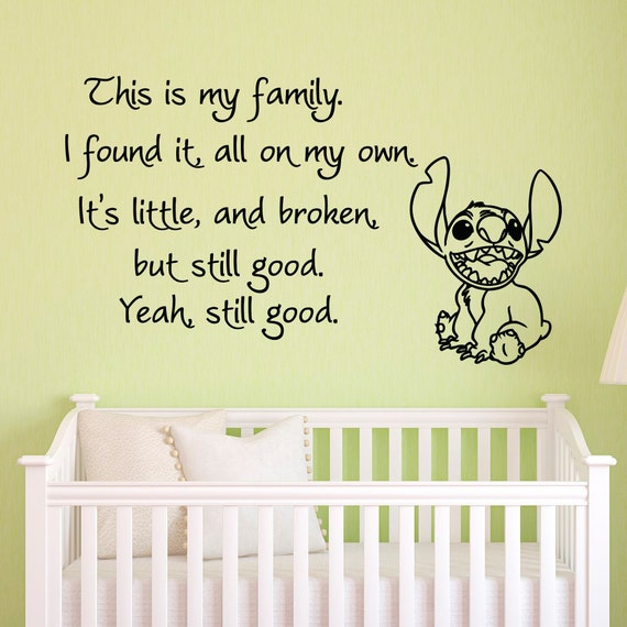Vinyl Wall Decals Quotes Lilo And Stitch This Is My Family I - Vinyl wall decals quotes