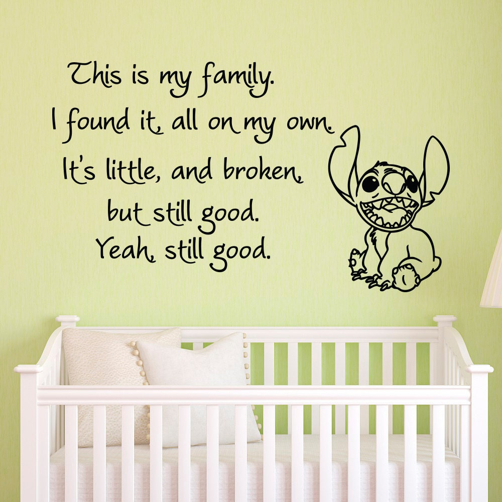vinyl wall decals quotes lilo and stitch this is my family i details vinyl wall decals quotes