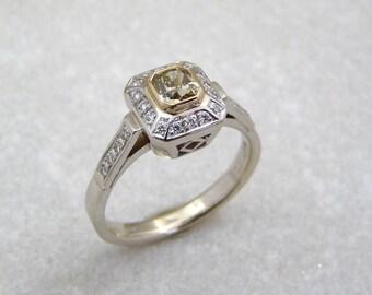 Fancy Diamond ring, yellow diamond engagement ring, diamond ring, yellow diamond ring, lady diamond ring, yellow diamond band, color diamond