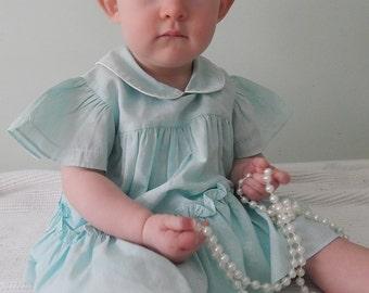 Vintage 1980's Jade Baby Girl Dress