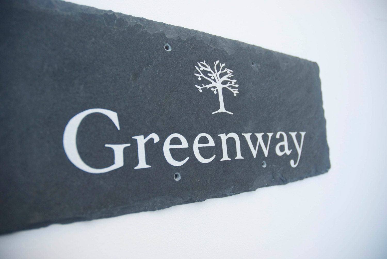 Hand painted slate house signs contemporary bespoke house