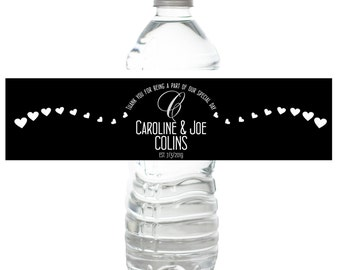 Personalized Water Bottle Labels Bachelorette Birthday Wedding Party Bridal Shower  Favor Customizable Custom Stickers