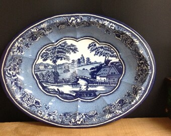 Blue Willow Daher Enamelware Bowl Blue Willow Platter Blue Willow Wall Decor
