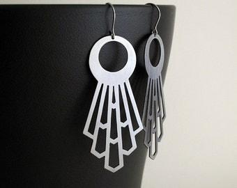 Deco Radiance Stainless Steel Earrings