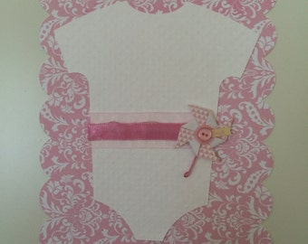 Pink Baby Girl Shower Invitation