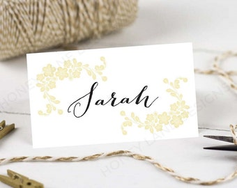 Personalised Printable Wedding Place Cards,Name Cards - Vintage Floral Border Collection