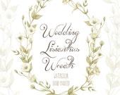 Watercolor Wedding Wreath Lisianthus Flowers Hand Painted. Eustoma Digital flowers, DIY invites, scrapbooking, wedding invitations
