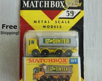 Matchbox, Matchbox Cars, Toy Truck, Diecast, Diecast Cars, Toy Car, Matchbox Series 51, Pointer Truck, 1960s Toys, Metal Truck,