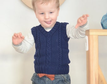 Knitting Pattern Baby Tank Top : Children hand knitted wool vest Knitted Baby/ Toddler Vest