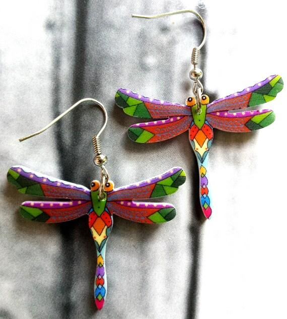 little girl dangle earrings dragonfy earrings tiny dangle. Black Bedroom Furniture Sets. Home Design Ideas