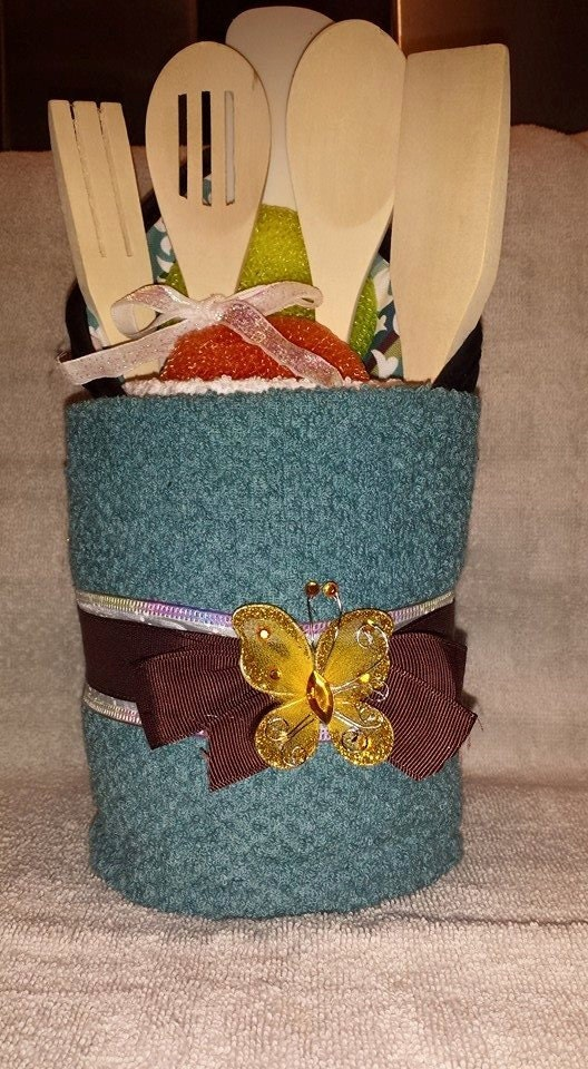 Kitchen Towel Gift Cake With Accessories Made To Order