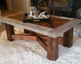 Reclaimed Wood Coffee Table- The Seattle Mid-town Classic- INCLUDES Free Shipping!