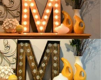 Marquee Letter M Light  - Monogram Channel Letter