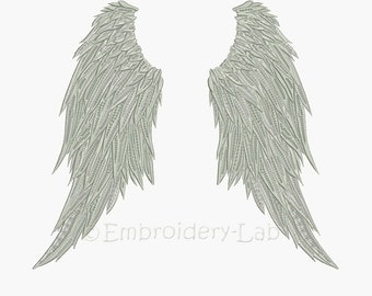 Extra Large Wings - digital designs for embroidery machine + designs divided into two parts