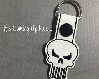 punisher keychain etsy. Black Bedroom Furniture Sets. Home Design Ideas