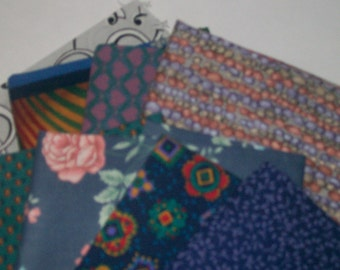 Fat Quarters  8 Bundle  Assortment 100% Cotton ,Quilting,sewing,scrap booking,fabric,deco,cloth n