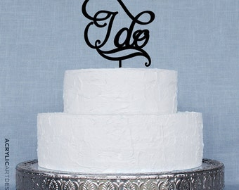 I Do Cake Topper for Beautiful Weddings by Acrylic Art Design