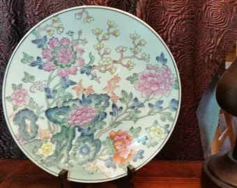 China Trader Oriental Porcelain Plate - Decorated in Macau