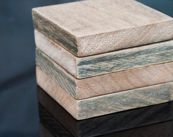 Reclaimed Softwood Coasters -  Home Decor, Gift Idea - Set of 4
