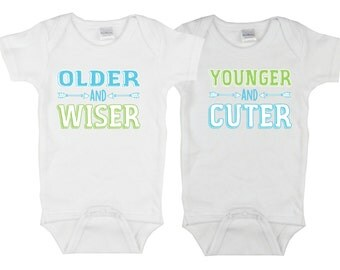 Twin Babies! Older and Wiser/Younger and Cuter, Twin Babies Gift Set