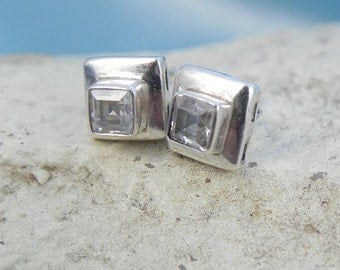 CZ Sterling Post Earrings