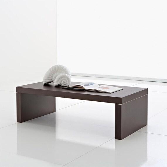 Tavolino basso Salotto Porta Tv con piano in legno wengé di Eglooh