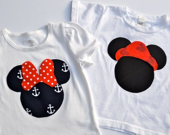 Custom Nautical Mickey and Minnie Shirt . . . Perfect for a Disney Cruise