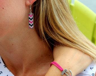 Pink Anchors Away Bracelet