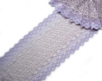 Stretch Lace lilac color  width  7.08 inch _18 sm_per metre_art -3791