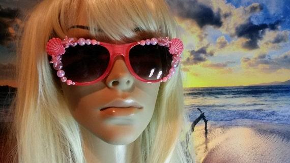 I'm Really A MERMAID Sunglasses Sun Glasses Sunnies Wayfarers Aviators Im Ariel Beach Sea Ocean Nautical Pinup The Little Coral A004