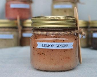 Lemon Ginger sugar scrub