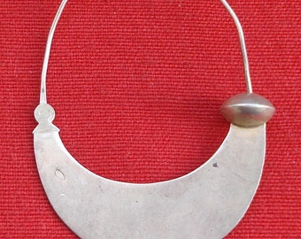 vintage antique tribal old sterling silver nose ring nose ornament moon