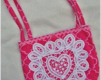 Embellished bag, project bag, small bag, handmade bag, girls bag, carry bag