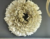 Large Book Page Wreath Sc...