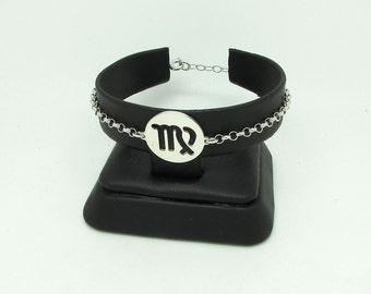 925 Silver zodiac signs-Virgin bracelet, Sterling Silver Bracelet with Virgo sign of the Zodiac