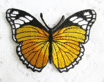 Butterfly Iron On Patch, Embroidery Applique Sew On Patch, Applique Embroidery