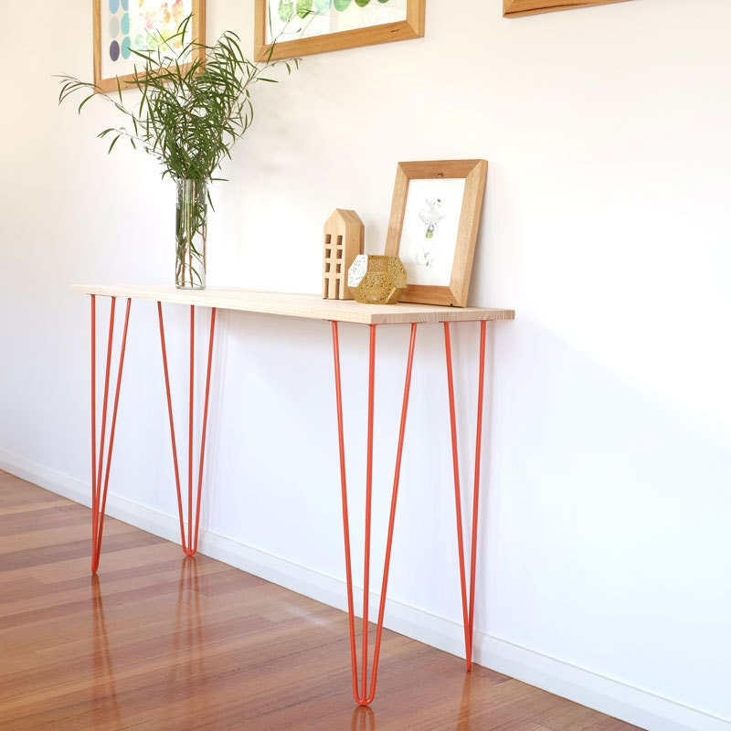 Foyer Table Hairpin Legs : Hairpin legs hall table console by