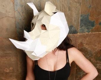 Paper Rhino Mask