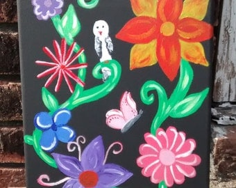 Flowers and Things Abstract Acrylic Painting