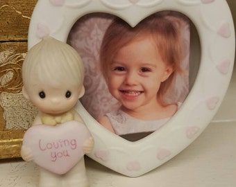 Vintage Precious Moments Picture Frame, Loving You, Mint