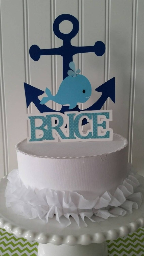 blue whale cake topper whale party boy whale baby shower blue whale